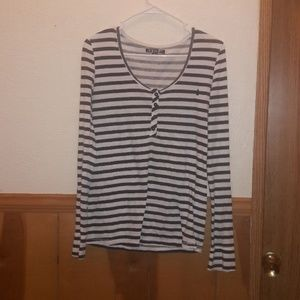 Volcom striped long sleeve lightweight shirt top